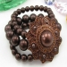 Fashion Coffee Beaded Bracelets With Rhinestone