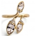Exquisite 18K GP Golden Austrian Crystal Ring