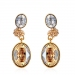 Fashionable Luxury 18K GP Austrian Crystal Drop Earring