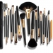 18 Pcs Golden Ferrule Brush Set With Free Case