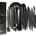Bright Black Handle 18 Pcs Makeup Brush Set