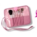 Fashion 7 Pcs Brush Set With Free Pink Case