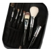 7 Pcs Natural Wool Brush Set With Black Pouch